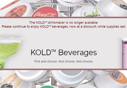 Keurig Kold discontinued