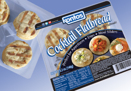 Kontos Foods cocktail flatbread