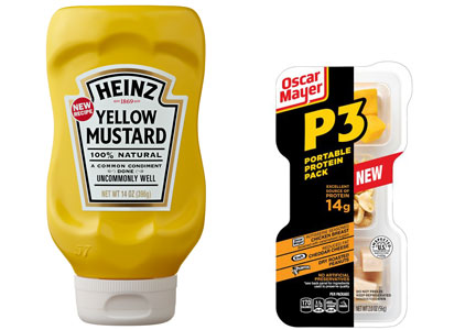 Heinz Yellow Mustard, Oscar Meyer P3 snack pack, Kraft Heinz Co.