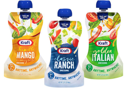 Kraft salad dressing in two-serving pouches