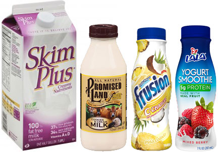 LaLa dairy brands - LaLa, Frusion, Skim Plus, Promised Land