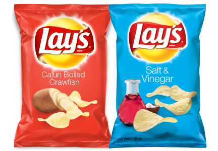 Lay's salt and vinegar and crawfish chips
