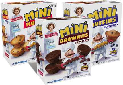 Little Debbie mini muffins and mini brownies