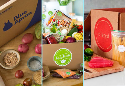 Blue Apron, HelloFresh, Plated meal kits