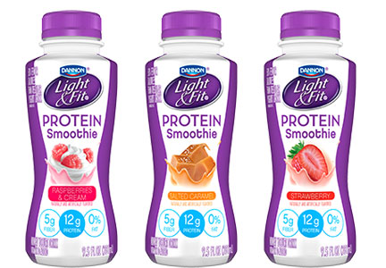 Light & Fit Protein Smoothies, Danone, Dannon