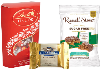 Lindt, Ghirardelli, Russell Stover