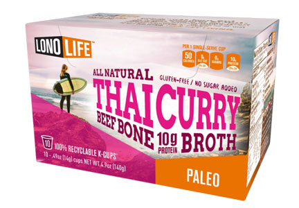LonoLife Thai Curry beef bone broth K-cups