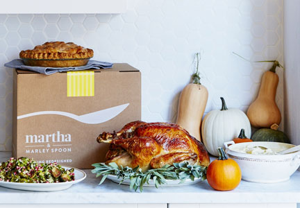Martha & Marley Spoon Thanksgiving meal kit