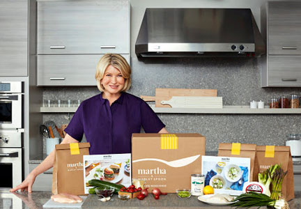 Martha Stewart and Marley Spoon meal kit