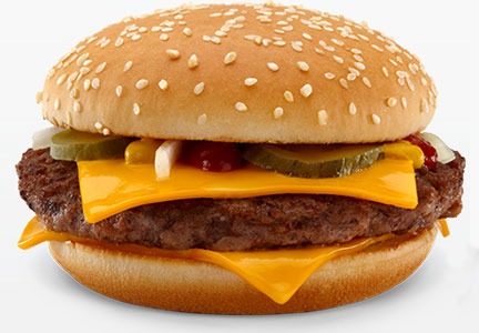 McDonald's quarter pounder burger