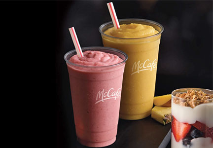 McDonald's McCafe smoothies and parfaits made with Chobani Greek yogurt