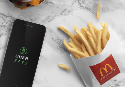 McDonald's delivery through UberEats