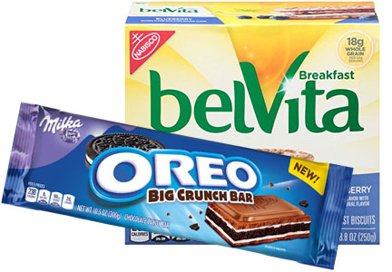 Mondelez power brands: Oreo, Milka, belVita