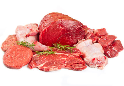 Various raw meats
