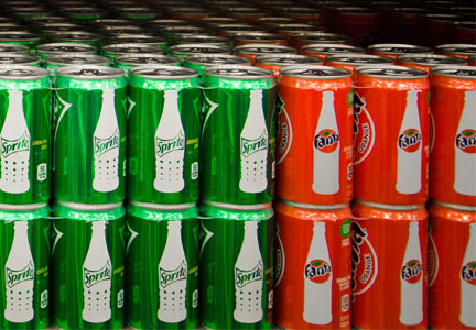 Mini cans of Sprite and Fanta - Coca-Cola