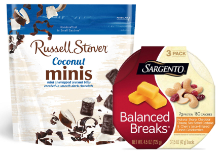 Russell Stover Coconut Minis and Sargento Balanced Breaks