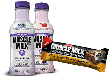 Muscle Milk smoothies and bars