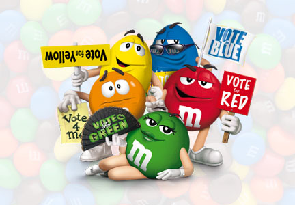M&M's vote for your favorite color campaign