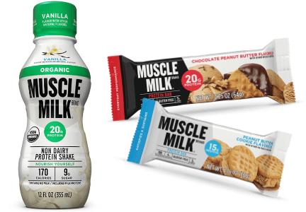 Muscle Milk protein shakes and bars, Hormel