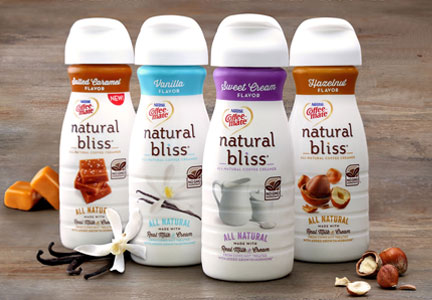 Coffee-mate Natural Bliss coffee creamers, Nestle