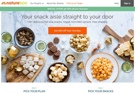 NatureBox web site
