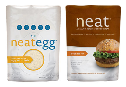 Neat Foods LLC products - meat and egg alternatives
