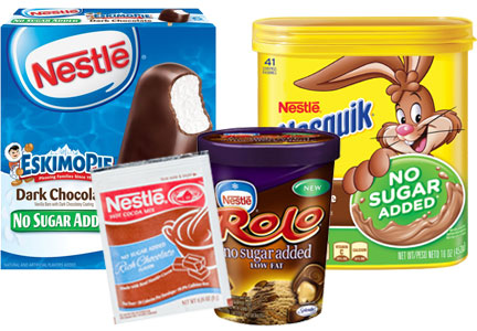 Nestle no sugar added products