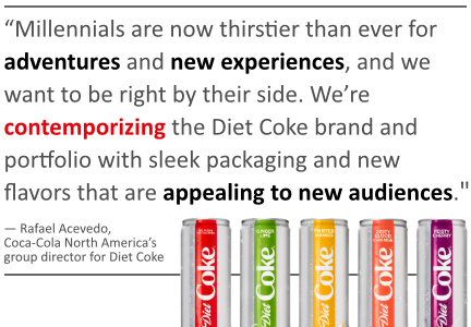 New Diet Coke pull quote