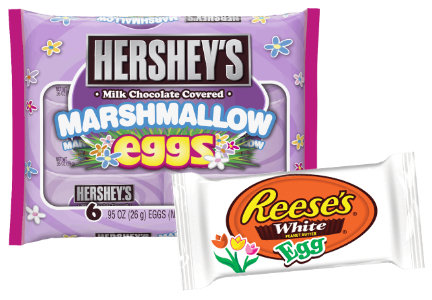 New Hershey chocolate Easter products