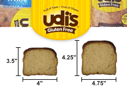 New Udi's gluten-free bread, Pinnacle Foods
