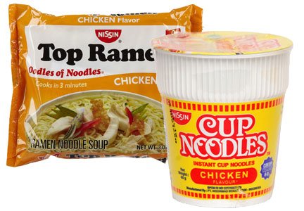 Nissin Foods Top Ramen and Cup Noodles