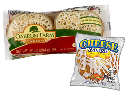 Oakrun Bakery and Cloverhill Bakery products, Aryzta