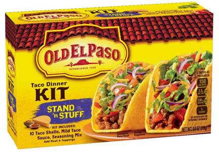 Old El Paso taco shells made with 3 simple ingredients, General Mills