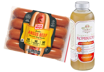 Oscar Mayer and GT's Kombucha