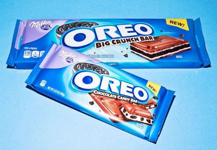 Milka Oreo Chocolate Candy Bar and Milka Oreo Big Crunch Chocolate Candy Bar