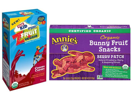 Organic fruit snacks for kids - Annie's, Clif