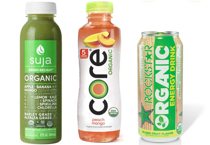 Organic juices and beverages