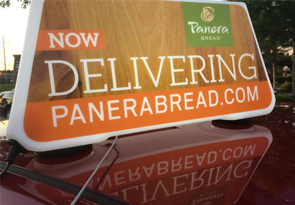 Panera delivery car
