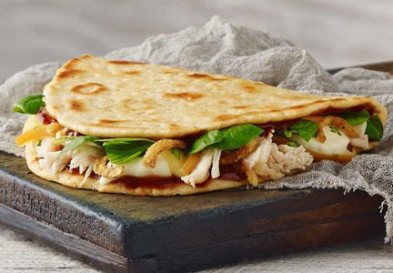 Panera chicken flatbread sandwich