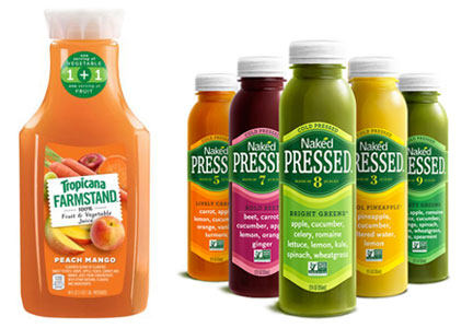 PepsiCo Tropicana Farmstand juice, Naked cold-pressed juices