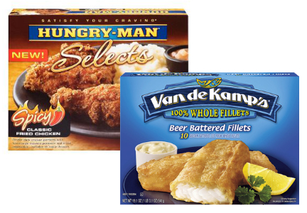Pinnacle frozen foods - Hungry Man, Van de Kamp's