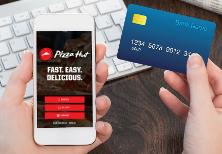 Pizza Hut mobile ordering