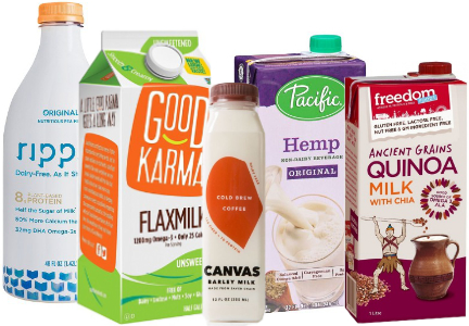 Plant-based dairy alternative beverages