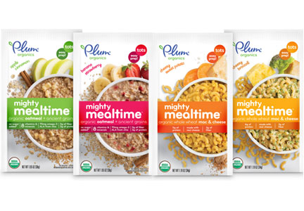 Plum Organic mighty mealtime packages