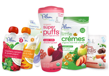 Plum Organics products, Campbell Soup