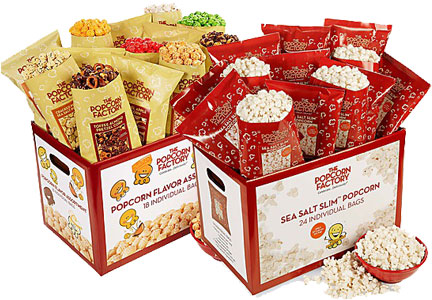 Popcorn Factory boxes, 1-800-Flowers.com