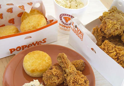 Popeyes Louisiana Kitchen meal