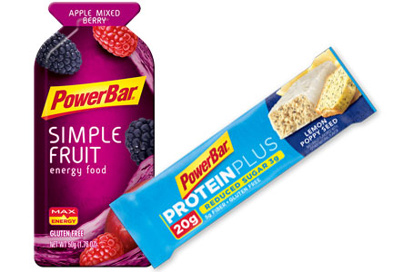 PowerBar Simple Fruit Energy Food, PowerBar Protein Plus 20g Bar Reduced Sugar