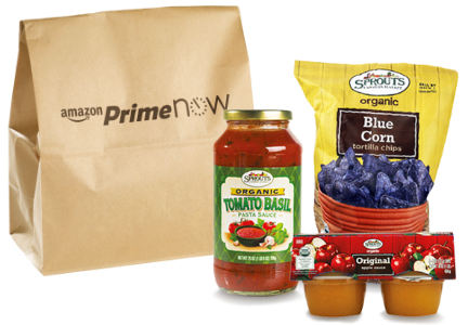 Amazon Prime Now Sprouts products