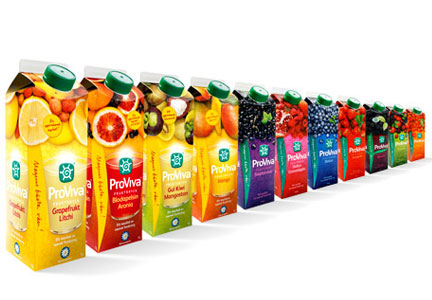 ProViva Swedish probiotic juices